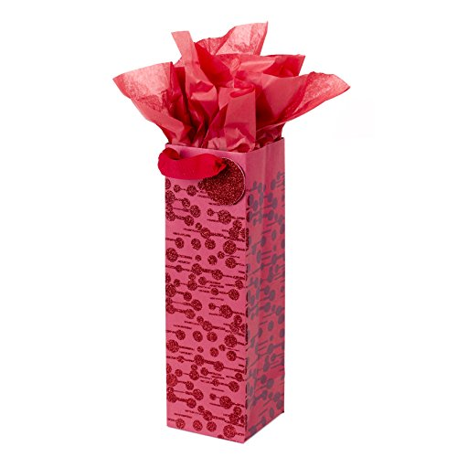 (Hallmark Bottle Gift Bag with Tissue Paper (Dots and Dashes))