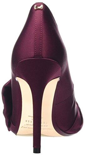 Rojo con Cerrada Tacón Baker Zapatos Dorabow Punta de Ted para Burgundy Mujer 1BpqRv0Xc