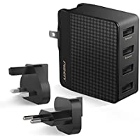 Pisen 4-Port 20W/5V 4A USB Wall Charger (Black)