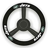 united states flag wheel cover - NFL New York Jets Leather Steering Wheel Cover, Black, One Size