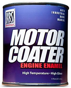 Paint High Temp Enamel Gloss (KBS Coatings 60301 Chevy Orange Motor Coater Engine Paint - 1 Pint)