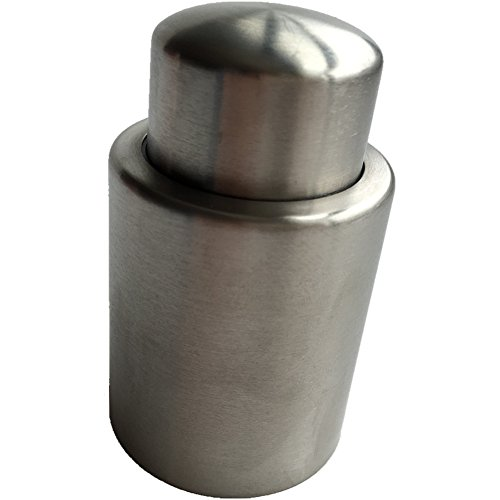 Fengbao Stainless Steel Vacuum Wine Stopper - Pump Inside - Super Easy to Keep Your Best Wine Fresh (Spirit Halloween Zombie Baby Names)