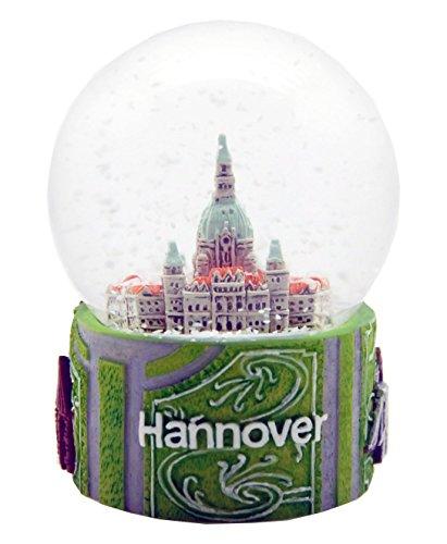 - 30024 Souvenir Snow Globe Germany Hannover Town House 3.3 Inch.
