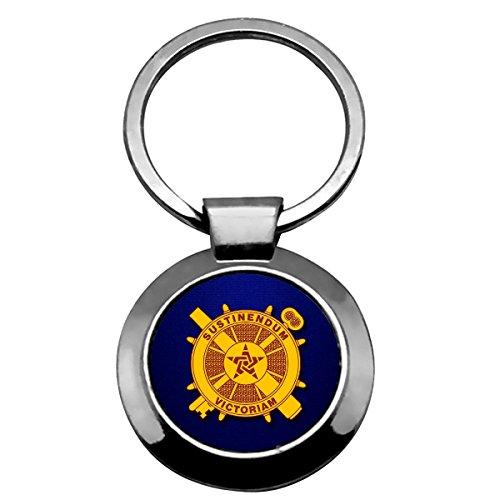 Expressitbest Premium Key Ring   Us Army Logistics  Branch Insignia