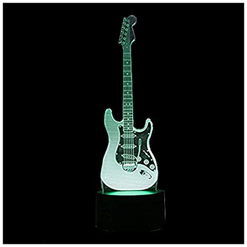 Toogoor new 3d electric guitar night light 7 color led change toogoor new 3d electric guitar night light 7 color led change touch switch aloadofball Images