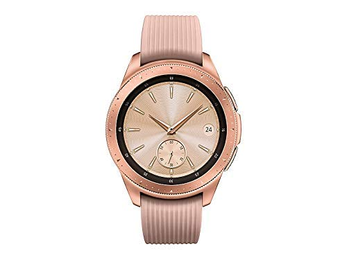 Samsung - Galaxy Watch Smartwatch 42mm Stainless Steel LTE SM-R815UZDAXAR GSM Unlocked - Rose Gold (Renewed) (Gsm Watch Phone)