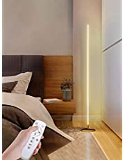 TBOYUAN Smart LED Floor Lamp, Modern Minimalist Floor Lamp, Dimmable Standing Lamp with Remote Control, 3 Color Temperatures Corner Lamp, Corner Lamp for Living Room Decor (Gold)