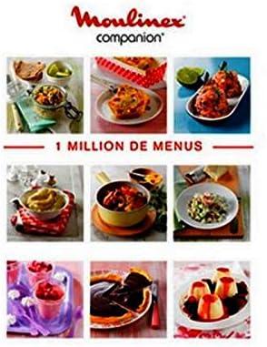 Libro 1 Million de recetas Robot Companion Moulinex (ms-8080014510): Amazon.es: Hogar