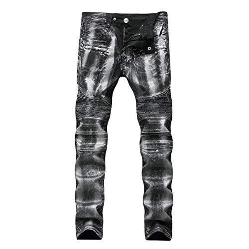 Vintage Abbigliamento Slim Adelina Da Vita Moto Uomo Casual Denim Media Silver Pantaloni A In Jeans Dritti Stretch g0AOgqF