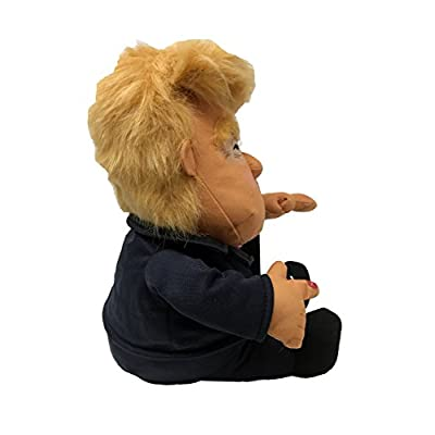 Pull My Finger Farting Donald Trump Plush Figure Doll -With Animated Hair-10.5 Inches Tall: Toys & Games