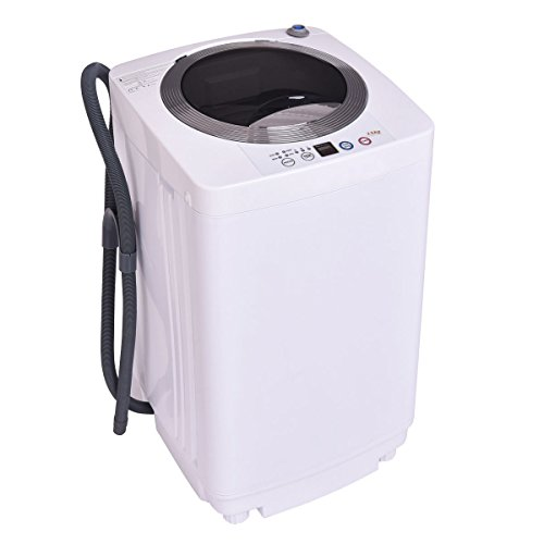 Giantex Portable Compact Full-Automatic Laundry 1.6 Cu. ft. Washing Machine 8 Lbs Washer/Spinner W/Drain Pump (Machine Apartment Washing)