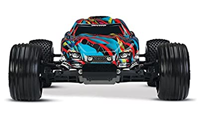 Traxxas Rustler VXL 1/10 Scale Brushless Stadium Truck with TQi 2.4GHz Radio and TSM, Hawaiian