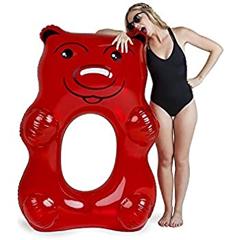 Bigmouth inc giant red gummy bear pool float for Swimmingpool gummi