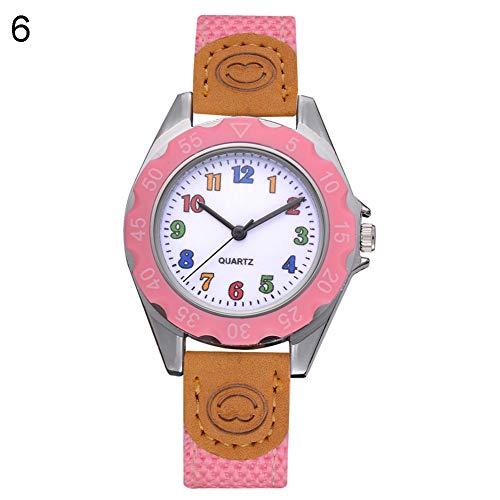 Fashion Children Kids Arabic Numbers Nylon Band Wristwatch Analog Quartz Watch Wrist Studens Watches by Gaweb (Image #9)