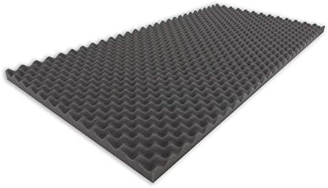 Noppenschaumstoff,Akustik Schaumstoff Akustikschaumstoff D/ämmung 99 x 99 x 3 cm, Anthrazit//Schwarz Pyramiden Akustik