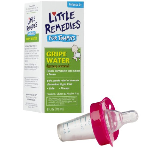 Little Remedies Tummys Gripe Water with Pacifier Medicine Dispenser, Pink
