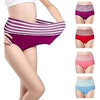 Fidus Womens Cotton Underwear 4 Pack High Waist Tummy Control Panties Breathable Stretch Soft Comfortable Briefs