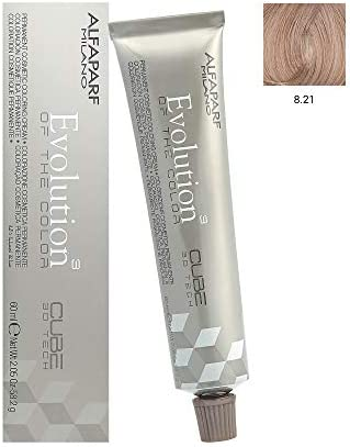 Alfaparf Chemical Hair Dyes Evolution of The Color, 8.21 Light Violet Ash Blonde, 2.05 Ounce by AlfaParf