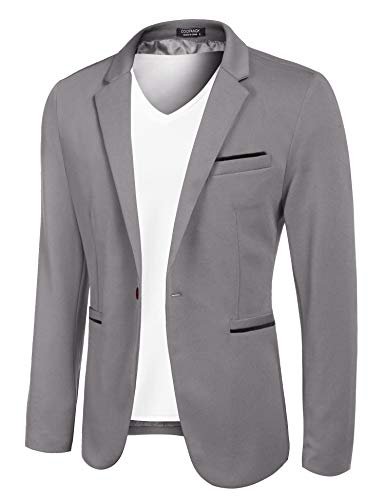 COOFANDY Men's Casual Suit Blaze...