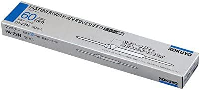 [해외]코크 지퍼 (폴리올 레 핀 강판) 다리 거리 80mm 길이 60mm FA-22N 1 박스 (50 개) (× 5 세트) / Kokuyo Fastener (Polyolefin Steel Sheet) Foot Spacing 80mm Length 60mm FA-22N 1 Box (50 pcs) (5 pieces)