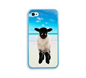 Hipster Beach Rough Fell Lamb Aqua Silicon Bumper iPhone 4 Case Fits iPhone 4 & iPhone 4S