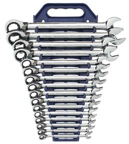 Metric Ratchet Wrench Set (GearWrench 9602 16-Piece Reversible Combination Ratcheting Wrench Set, Metric)