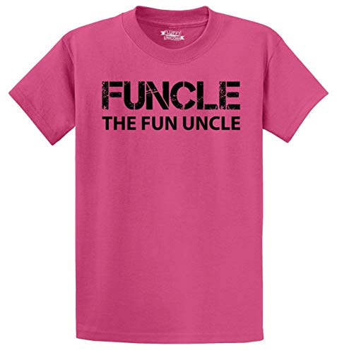 Men's Heavyweight Tee Funcle Fun Uncle Funny Tee Uncle Brother Gift Tee Pink XL