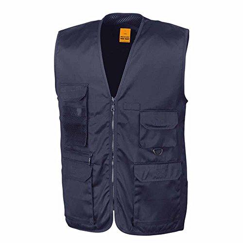 RESULT - gilet reporter multipoches - veste légère sans manches BODYWARMER - réf R045X - bleu marine - mixte homme / femme