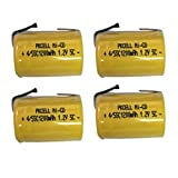 4/5SC Sub C 1.2V 1200mAh Ni-CD Rechargeable Battery Flat Top with Tab Count (4)