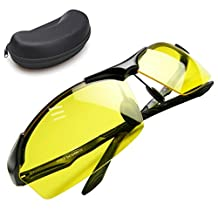 Night Vision Glasses | Anti-glare UV400 Protected Polarized HD Night Vision Glasses for Safe Night Driving and Ultra Enhanced Vision, Lightweight Frame with Stylish Unisex Design, Black Case Included