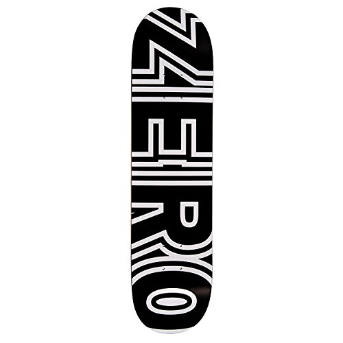 Zero Bold Skateboard Deck - Black/White 7.75'