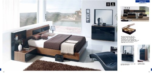 ESF Jana Composition 8.39 Brown Wood Veneer Bedroom Set -Queen Size by (ESF) European Style Furniture