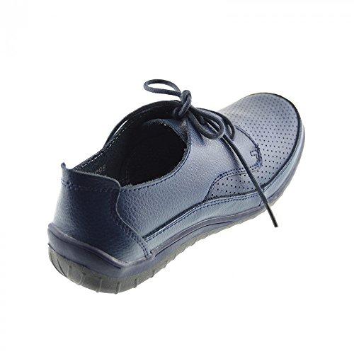 Kick Footwear - Damen Leder Smart-Obermaterial Echtes Leder-Schuhe Navy