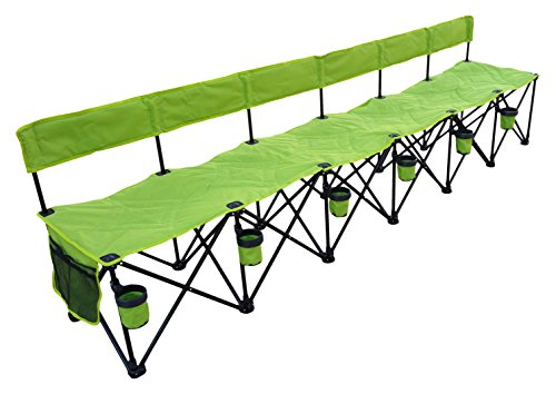 (GoTeam! Pro 6 Seat Portable Folding Team Bench - Green)