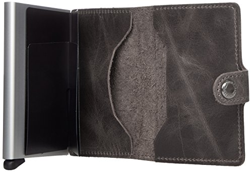 Secrid mini wallet leather vintage gray, Very Slim Credit Card Wallet / with RFID protection, with one click all cards slide out gradually by Secrid (Image #4)