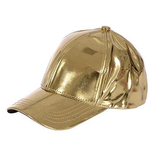 - Gary Majdell Sport Unisex Metallic Baseball Cap with Adjustable Strap - Gold
