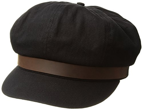 Brixton Men's Montreal Cap, Washed Black/Brown, - Montreal Hat Shop