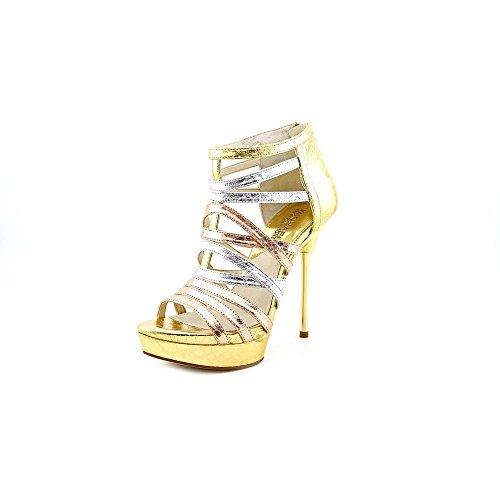 Michael Kors Maddie Platform Sandals Rose Gold (Size 6)