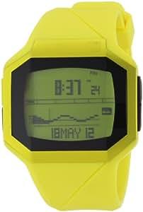 Quiksilver Addictiv M128TR-AYEL - Reloj digital para hombre, correa de plástico color amarillo (alarma, luz, cronómetro, registro de vueltas)