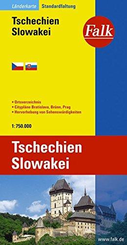 Falk Länderkarte Tschechien / Slowakei 1:750 000
