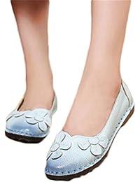 Summer Autumn Fashion Flower Design Round Toe Mix Color Flat Shoes Vintage Genuine Leather Women Flats