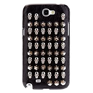 Punk Style Clinch Bolt Cool Skull and Bullet Design PU Leather Hard Case for Samsung Galaxy Note 2 N7100