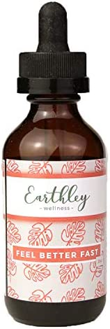 Earthley Wellness, Feel Better Fast, Supports Respiratory Health, Echinacea Root, Fennel Seed, Astragalus Root, Elder Flower and Cinnamon 2 oz