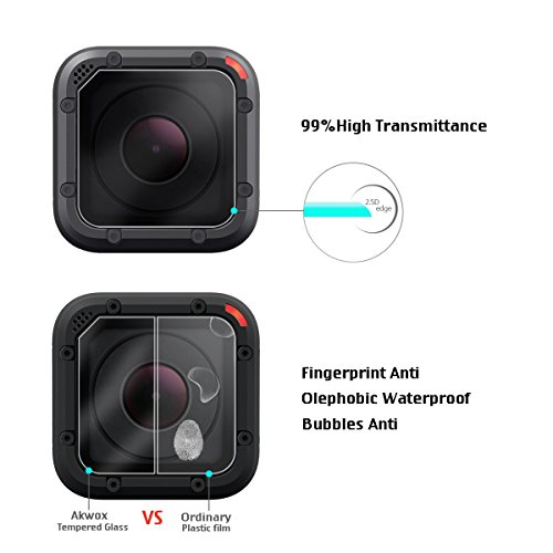 Pack Of 3 Tempered Glass Screen Protector For Gopro Hero