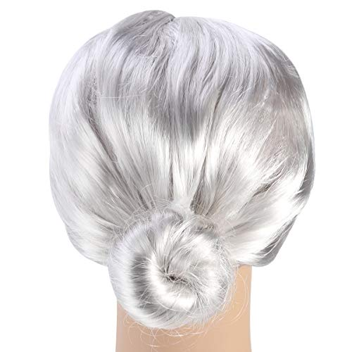 Wig Bun Hairstyle Halloween Christmas Cosplay Accessory for