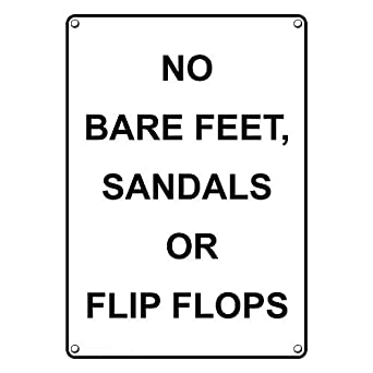 5b15e8a96 Image Unavailable. Image not available for. Color  Weatherproof Plastic  Vertical No Bare Feet ...
