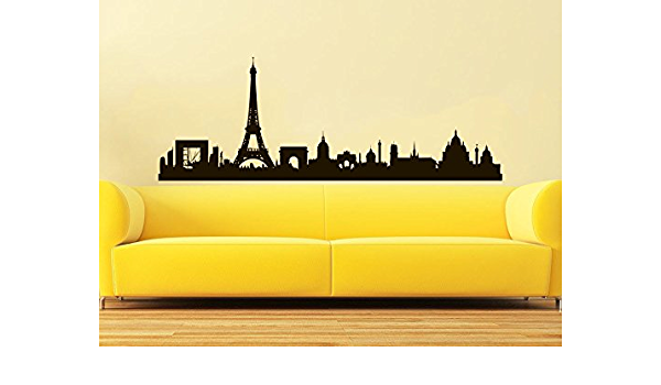 Paris City Skyline Vinyl Wall Decal Sticker