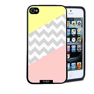 Iphone 5 5S Case Thinshell Case Protective Iphone 5 5S Case Shawnex Lemon Coral Grey Chevron