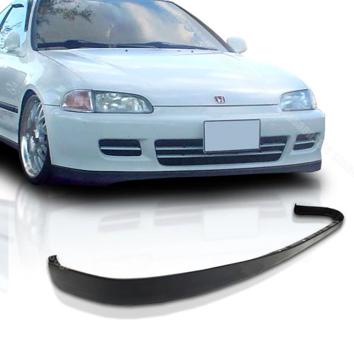 92 95 Civic Front Lip (NEW - 92-95 HONDA CIVIC 2dr 3dr OEM/SiR Style PU Front Bumper Lip)