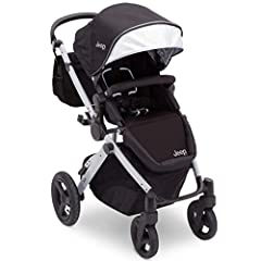 Inspire a new generation of adventure seekers with the J is for Jeep Brand Sport Utility All-Terrain Stroller. The only stroller you'll ever need, it features a lightweight, aluminum frame that adapts to your child as they grow. Three strolle...